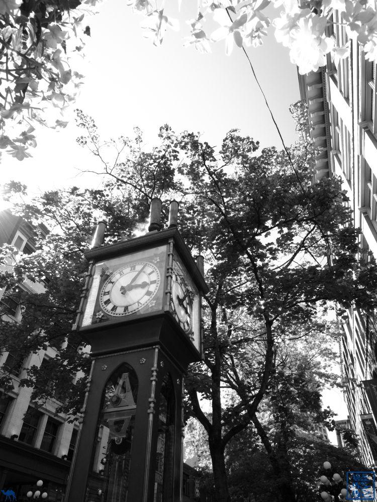 Le Chameau Bleu - Blog Voyage Vancouver Canada - Steam Clock de Vancouver