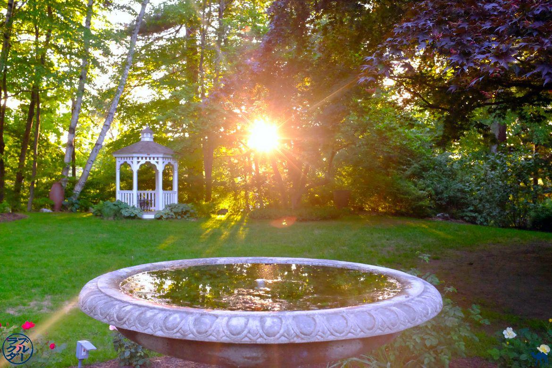 Le Chameau Bleu - Blog Voyage Vermont - Coucher de soleil Jardin Inn On The Putney Road