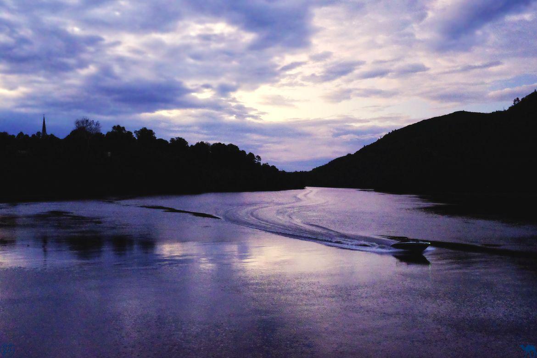 Le Chameau Bleu - Blog de Voyage Vermont Usa - Coucher de soleil sur la Connecticut River