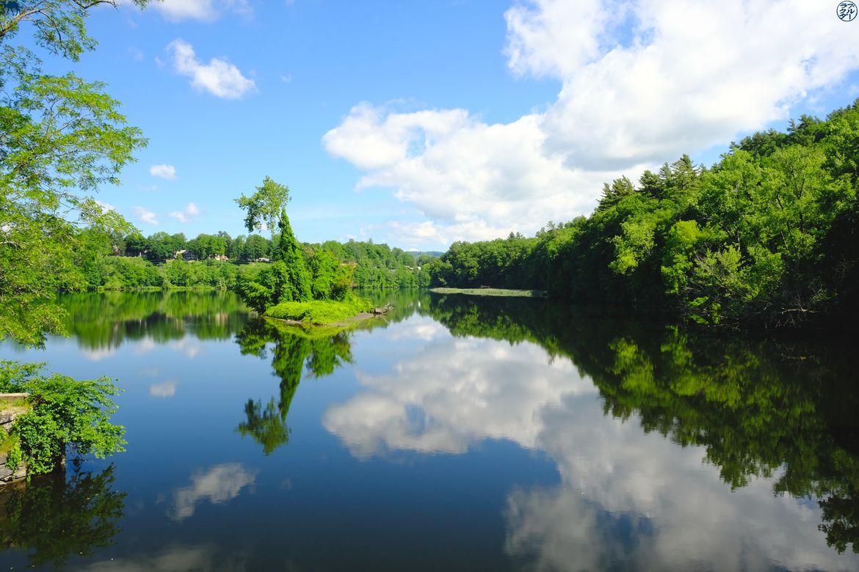 Le Chameau Bleu - Blog Voyage Vermont Usa- Reflet sur Connecticut River
