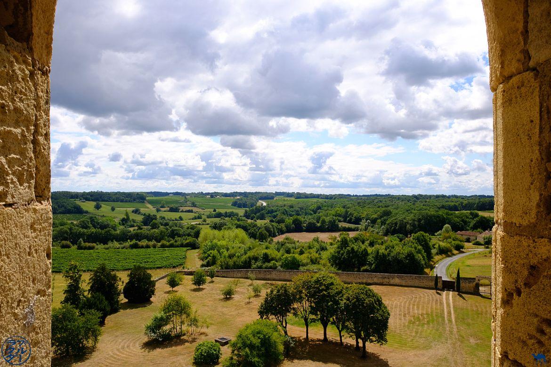 Le Chameau Bleu - Blog Voyage en Gironde à vélo - Vue depuis l'abbaye de la Sauve Majeure