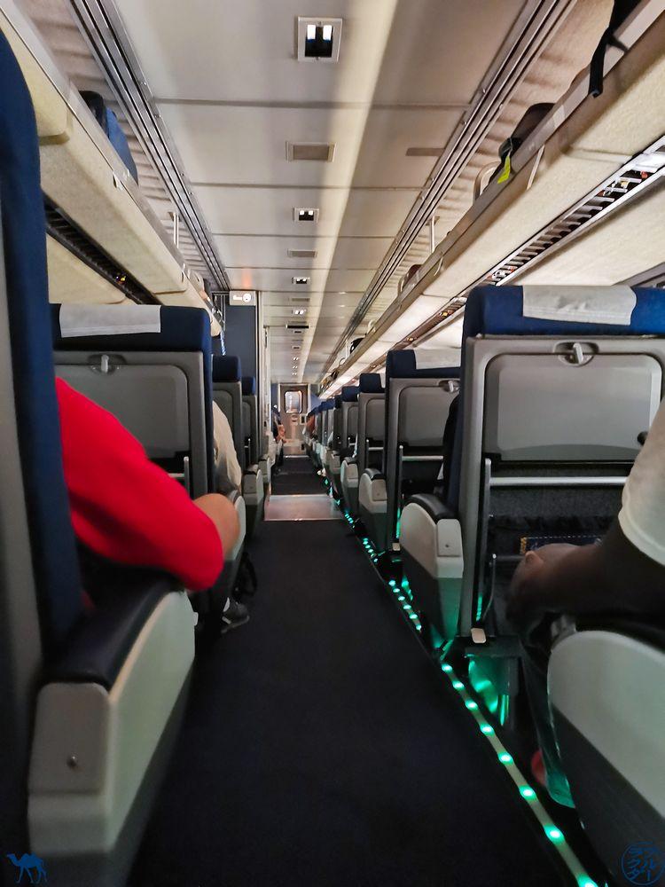 Le Chameau Bleu Blog Voyage Etats Unis en train - Intérieur de la Zephyr Line Train