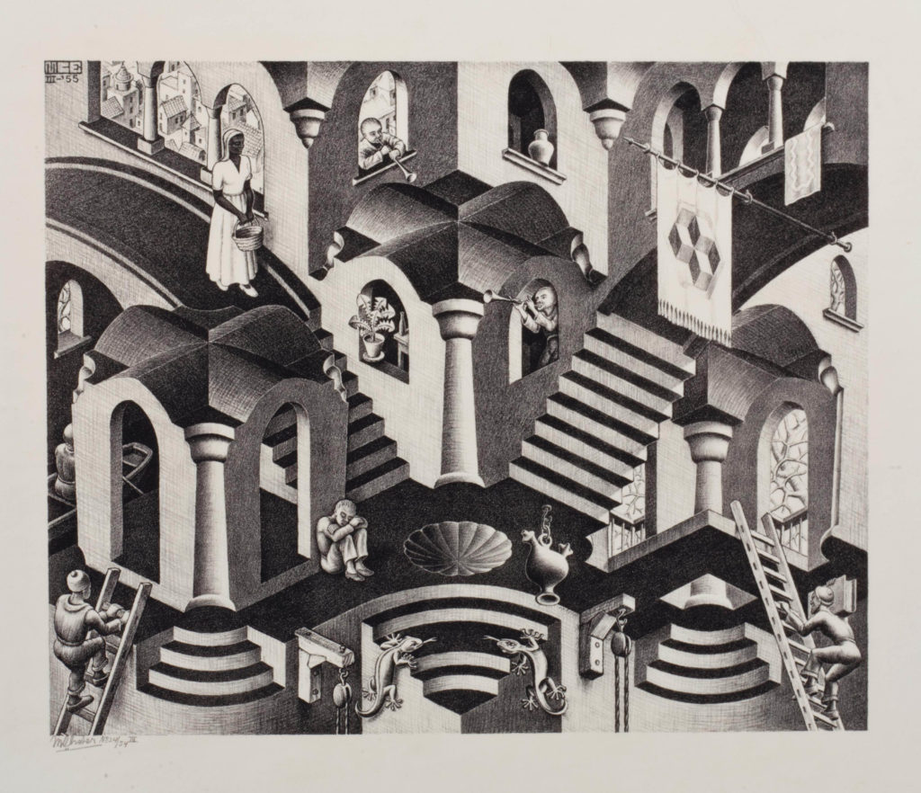 Le Chameau Bleu - Blog Voyage et Cuisine - Mc Escher -Convexe Concave