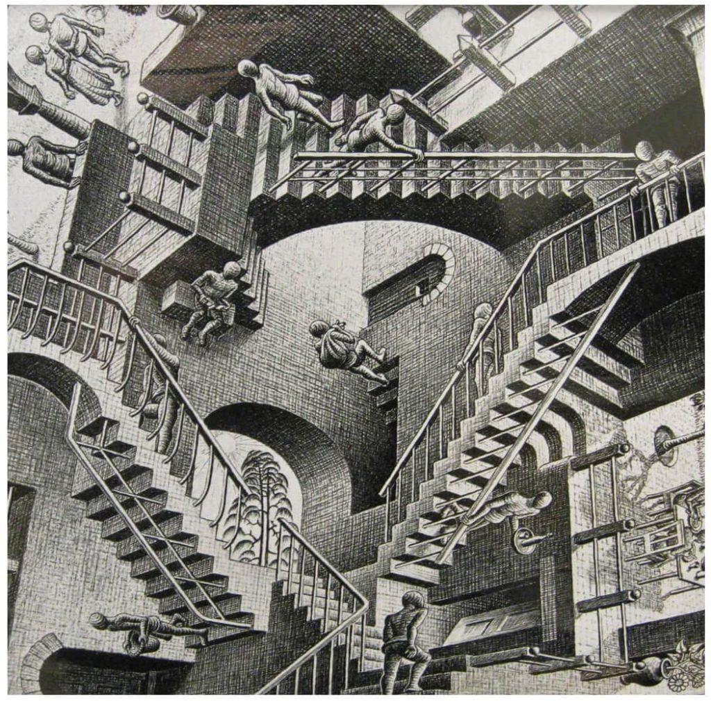 Le Chameau Bleu - Blog Voyage et Cuisine - Mc Escher -Relativity