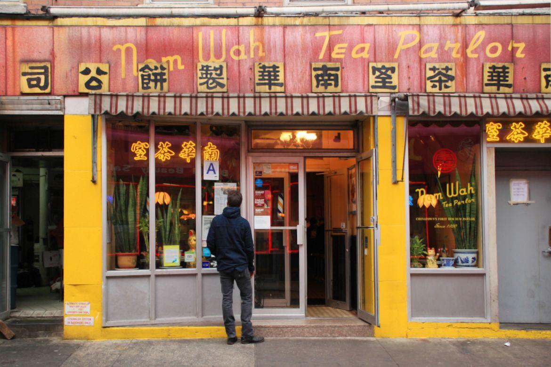 Le Chameau Bleu - Blog Voyage New York- Devanture de Nom Wah Tea Parlor